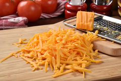 Grated cheddar cheese Royalty Free Stock Photography