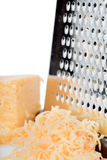 Grated cheese Stock Photography