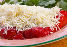 Grated cheese with pepper Royalty Free Stock Image