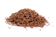 Grated chocolate Stock Image
