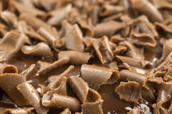 Grated chocolate Royalty Free Stock Photos