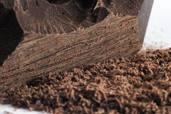 Grated chocolate Stock Images