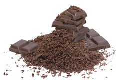 Grated Chocolate Stock Photo