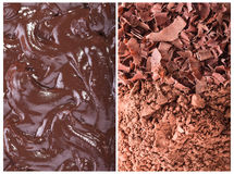 Grated chocolate, cocoa, cream Stock Photography