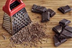 Grated chocolate Stock Photos