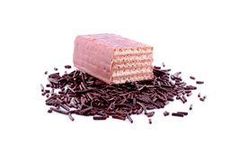 Grated chocolate Royalty Free Stock Image