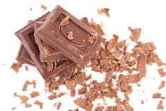 Grated chocolate. Stock Image