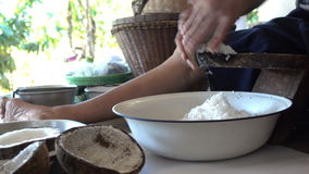 Grated coconut stock footage