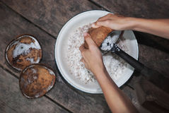 Grated Coconut Stock Image