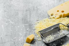 Grated fresh cheese royalty free stock image