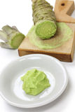 Grated fresh wasabi Stock Photography