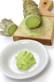 Grated fresh wasabi Stock Photography