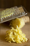 Grated ginger and ginger root Stock Image