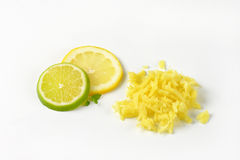 Grated ginger Stock Image