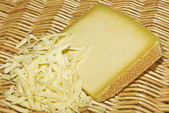 Grated gruyere Stock Photography