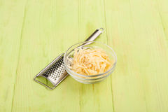 Grated hard cheese Stock Images