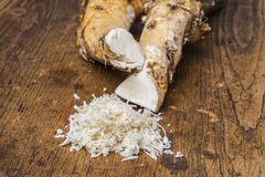 A grated horseradish Royalty Free Stock Photos