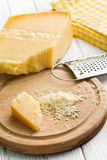Grated italian hard cheese Royalty Free Stock Images