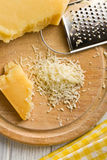 Grated italian hard cheese Royalty Free Stock Image