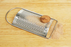 Grated nutmeg Royalty Free Stock Photography