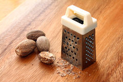 Grated Nutmeg Stock Photography