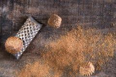 Grated nutmeg Royalty Free Stock Photo