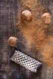 Grated nutmeg Stock Photo