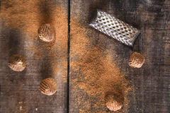 Grated nutmeg Royalty Free Stock Image