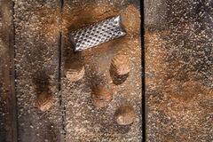 Grated nutmeg Royalty Free Stock Images