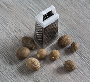 Grated, nutmeg Royalty Free Stock Images