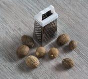Grated, nutmeg Stock Photos