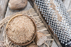 Grated Nutmegs Stock Images