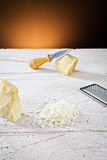 Grated parmesan cheese Stock Image
