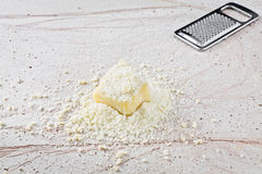 Grated parmesan cheese Royalty Free Stock Photography
