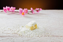 Grated parmesan cheese Stock Images