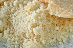 Grated Parmesan cheese Stock Photography
