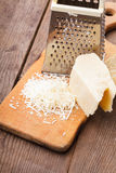 Grated Parmesan cheese Stock Photos