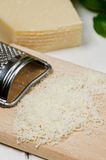 Grated parmesan. Cheese. Selective focus Royalty Free Stock Photos