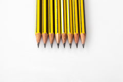 Grated pencils Stock Photos