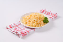 Grated raw potatoes Stock Image