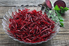 Grated red beets Royalty Free Stock Photography