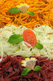 Grated salad background Stock Photography