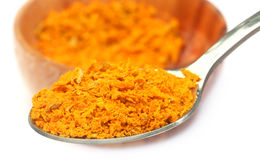 Grated turmeric Royalty Free Stock Images