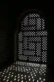 Grated window at alhambra Stock Photo