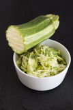 Grated zucchini Stock Photos