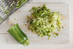 Free Grated Zucchini And Grater Stock Images - 28350994