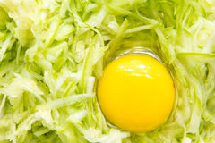 Grated zucchini with egg Royalty Free Stock Image