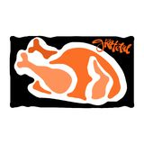 Grateful hand crafted badge.Bold drawn turkey Stock Images