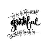 Grateful  hand lettering. Royalty Free Stock Photography