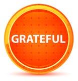 Grateful Natural Orange Round Button stock illustration